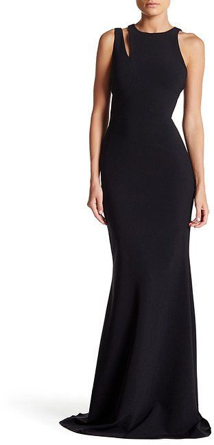 JAY GODFREY Cut Out Neckline Gown