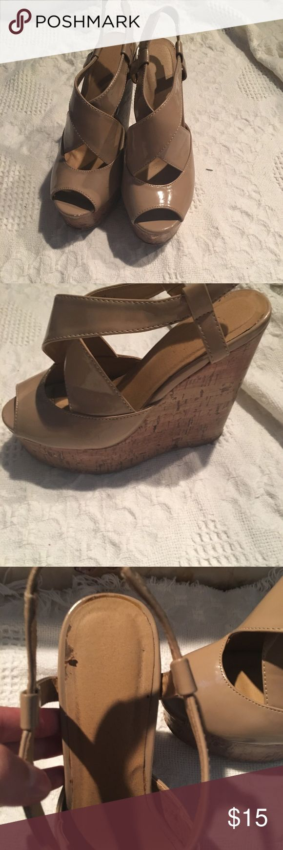 Cream wedges Cream wedges heels  .. Shoes Heels