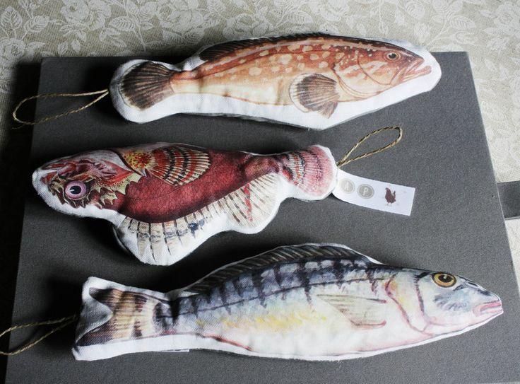 il pesce profuma! set 3 profumatori per amiente  di pap aia meccanica su DaWanda.com