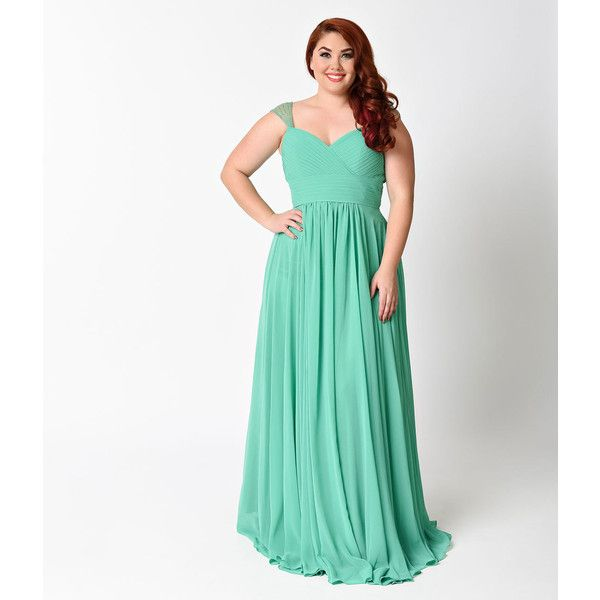 Plus Size Green Cap Sleeve Pleated Long Dress ($129) ❤ liked on Polyvore featuring dresses, green, plus size dresses, plus size white dress, evening dresses, plus size holiday dresses and plus size cocktail dresses