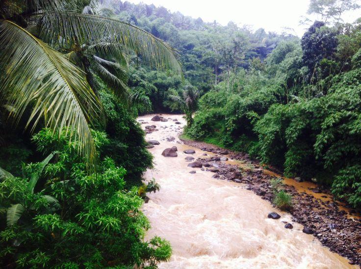 Citarik river in West Java, Indonesia
