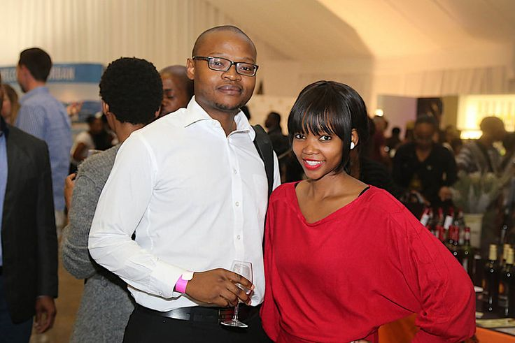 Palesa and Hebert  taste wine at the 10th TOPS at SPAR Soweto Wine and Lifestyle Festival.