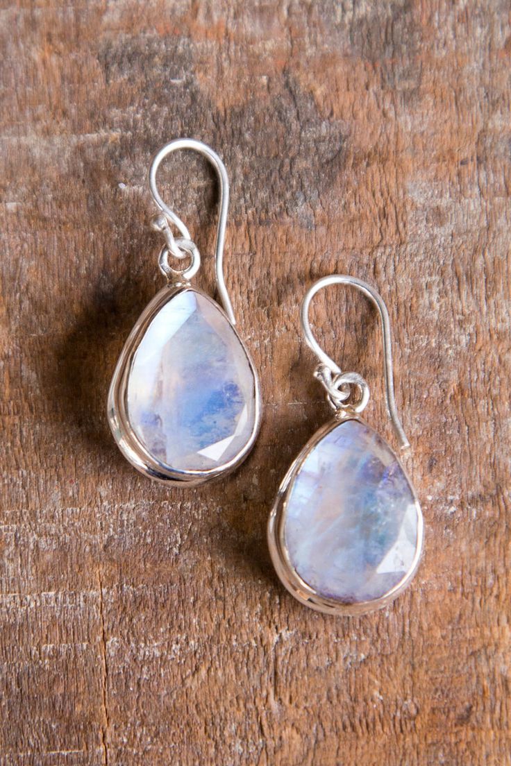 Tree of Life Faceted Moonstone Earrings