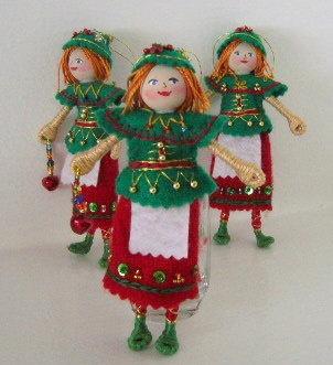 Christmas Felt Hanging Ornament  - Santa's Elf - Hanging Ornament - Christmas Holiday decoration. $12.00, via Etsy.