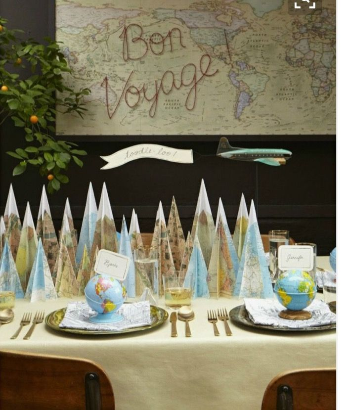 Birthday Table Mountain: 22 Best DIY Farewell Party Decorations & Ideas Images On