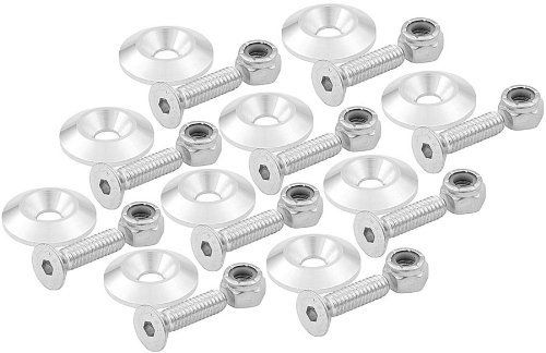 """Allstar Performance ALL18634 1/4"""" x 1"""" Countersunk Bolt Kit with 1-1/4"""" OD Washer, (Set of 10) by Allstar. $11.99"""