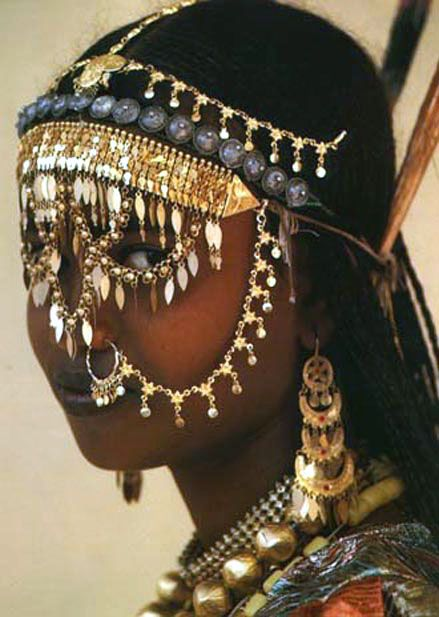 Afar tribal girl.  Amazing jewelry
