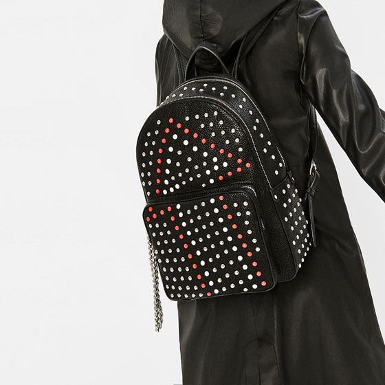 Backpack With Studs | Zara