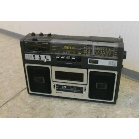 Philips kassettspiller - 774 - Boom Box - Radio
