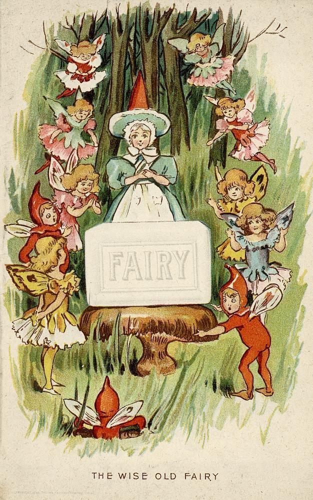 """Fairy Soap: """"Wise Old Fairy"""" N.K.Fairbank Co. [1896]"""
