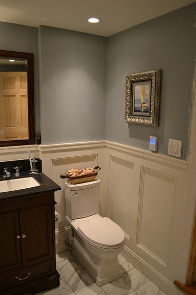 Floor Tile And Wainscoting Bathroom Pinterest