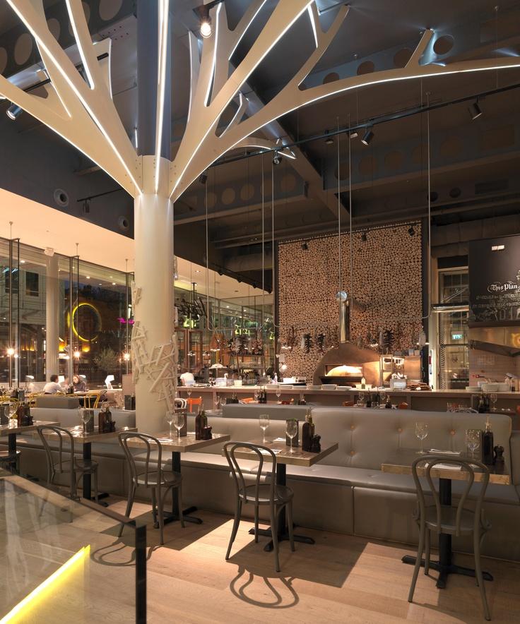 Zizzi restaurants « d raw wood interior bar