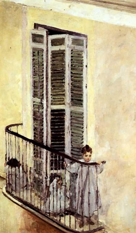 Alexander Golovin 1863-1930 Children on the balcony Spain