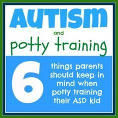 how to toilet train a toddler with autism