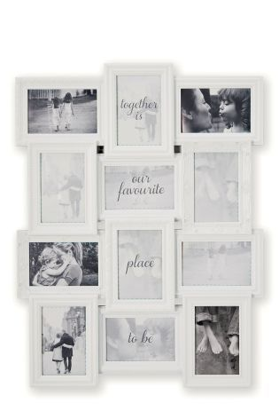 Multi Aperture Ornate Shabby Chic Black College Photo Picture Frame With Mount