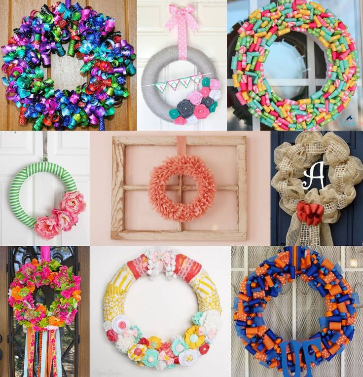 9 lovely #wreaths you can make with ribbon.