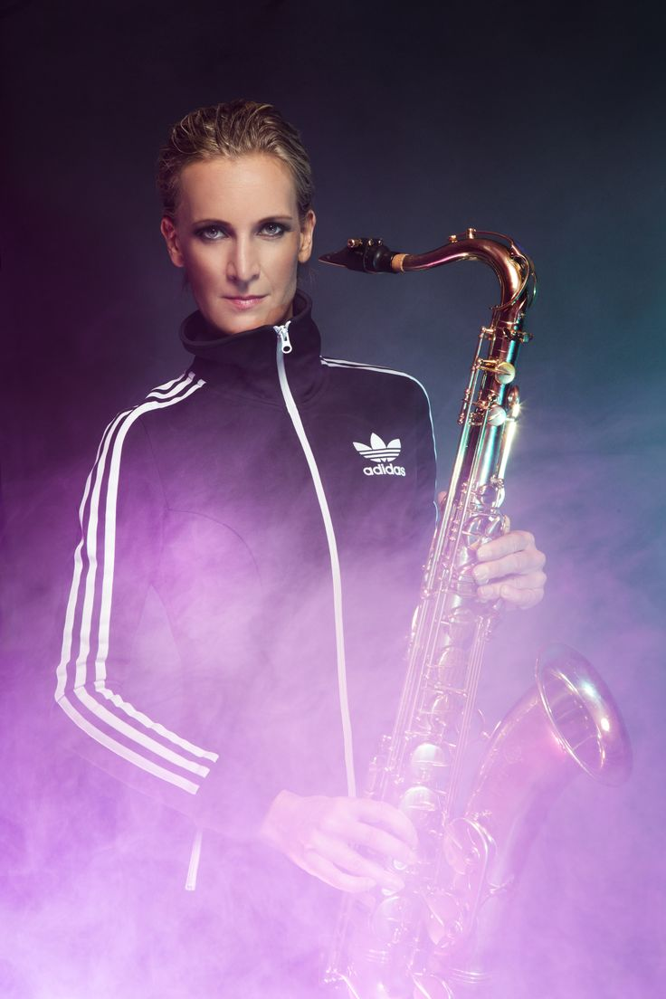 Artist Frøy Aagre sporting an awesome black Adidas Originals clubbing dress