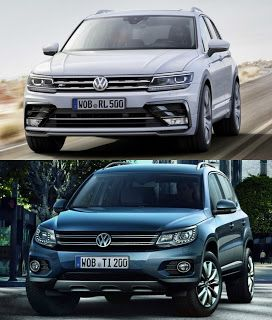 New VW #Tiguan vs Old VW Tiguan