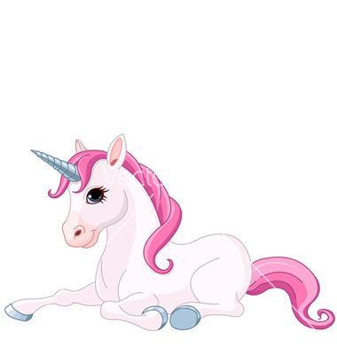 Adorable unicorn vector