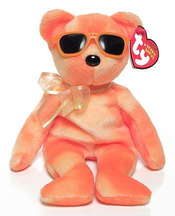 Orange Ice - bear - Ty Beanie Babies
