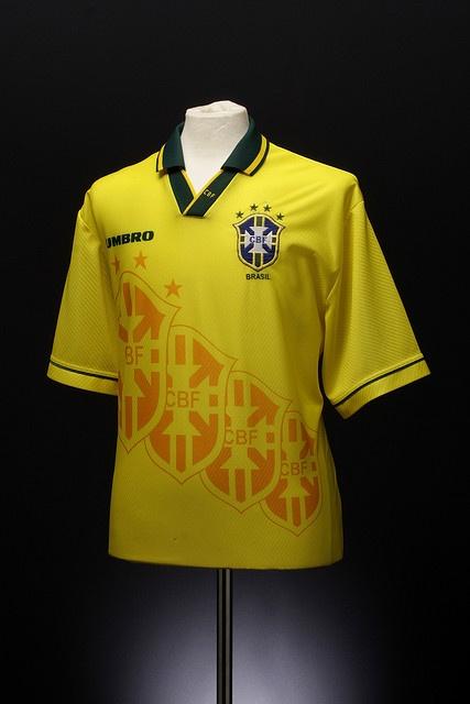 Brazil Football Shirt (home, 1994-1996). Probably the best Brazil shirt ever, better than Nike's.
