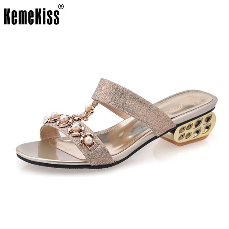 women bohemia girl quality flat sandals brand sexy rhineston fashion ladies heeled footwear heels shoes size 32-43 P18535