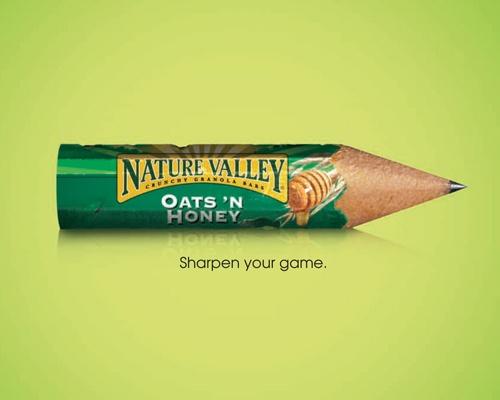 Naked muesli bar advertisement