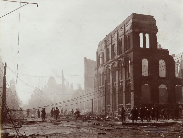 Aftermath of the Great Toronto Fire (April 19, 1904): Front St. West, just west of Bay St.
