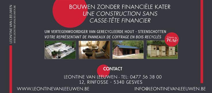 Leontine Van Leeuwen - Panneaux de coffrage en bois recyclés