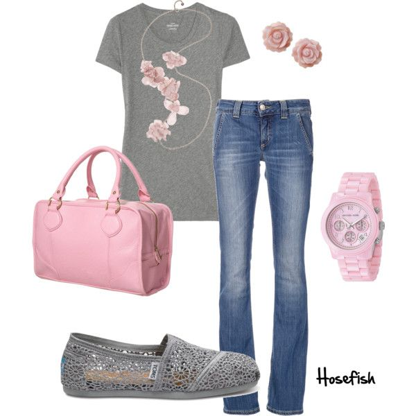 Love this!: Casual Style, Fashion Outfits, Soft Pink, Grey Casual, Pink Grey, Casual Outfits, Gray Casual, Soft Sweet, Pink And Gray
