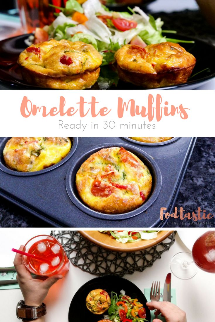 These omelette muffins recipe is quite and so delicious you'll be asking for seconds and thirds. Make them for a family breakfast or brunch with friends.