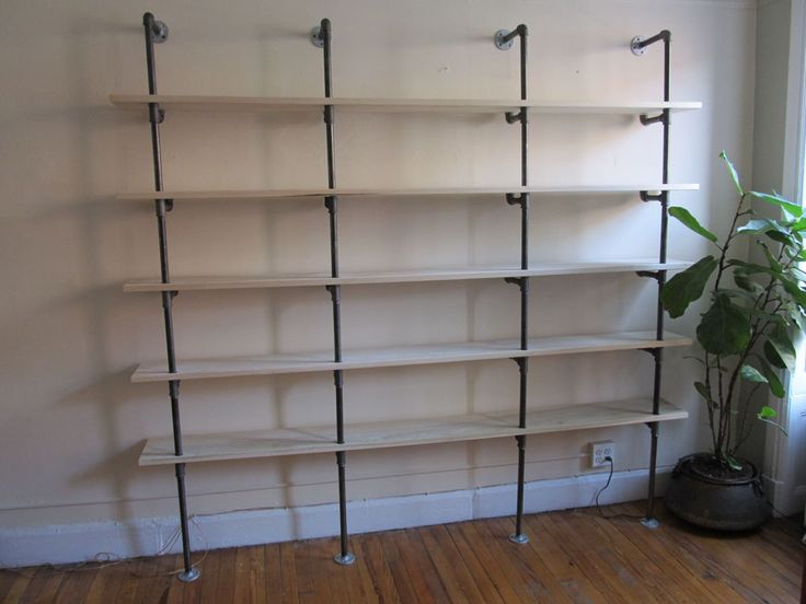 Best Pipe  Wood Projects Images On Pinterest Pipe Shelving - Pipe bookshelves