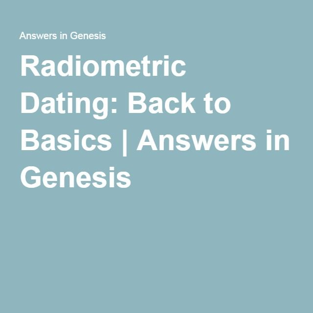 Answers in genesis radiocarbon dating