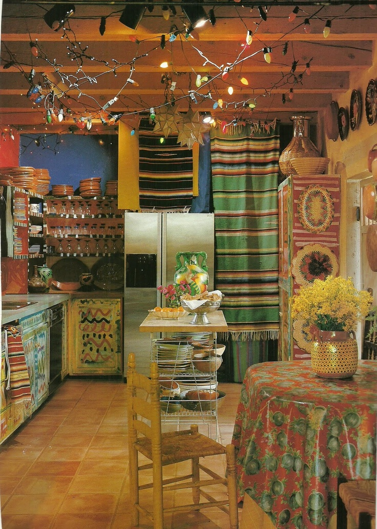 Mexican Kitchen.. I'd like get a little inspiration from this..