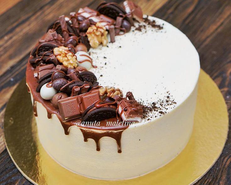 """2,419 Likes, 63 Comments - Анна Ульянова (@anuta_maletina) on Instagram: """"Шоколадный в шоколаде с шоколадом ещё больше шоколадного в нашем конкурсе #это_мой_торт5 Осталось…"""""""