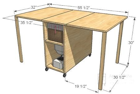 sewing table for small spaces. this is my first project for a new house. time to reclaim my dining table!
