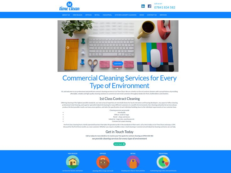 A new site for a commercial, retail and domestic cleaning service near Stoke-on-Trent