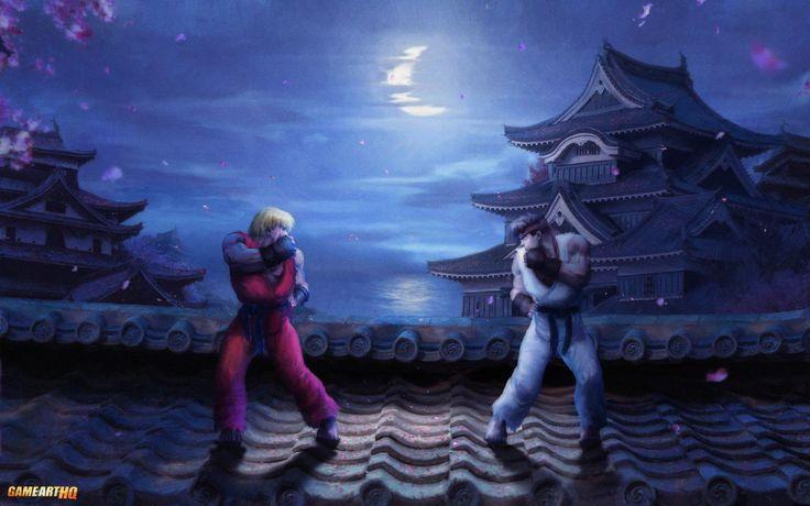 Ryu-vs.-Ken-Street-Fighter-II-by-Orioto.jpg (1280×800)