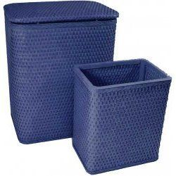 "Chelsea Collection Hamper And Matching Wastebasket Set Coastal Blue by Redmon. $87.30. Hand crafted for quality and durability. Hamper Dimensions; 18.5""L x 10.25""W x 24.25""H.. Chelsea Collection Hamper And Matching Wastebasket Set Coastal Blue. Wastebasket Dimensions: 9""L x 9""W x 11""H.. Made in the USA of quality materials and craftsmanship. Chelsea Collection Hamper and Matching Wastebasket Set is hand crafted and made in the USA of quality materials and craftsmanship. Made o..."