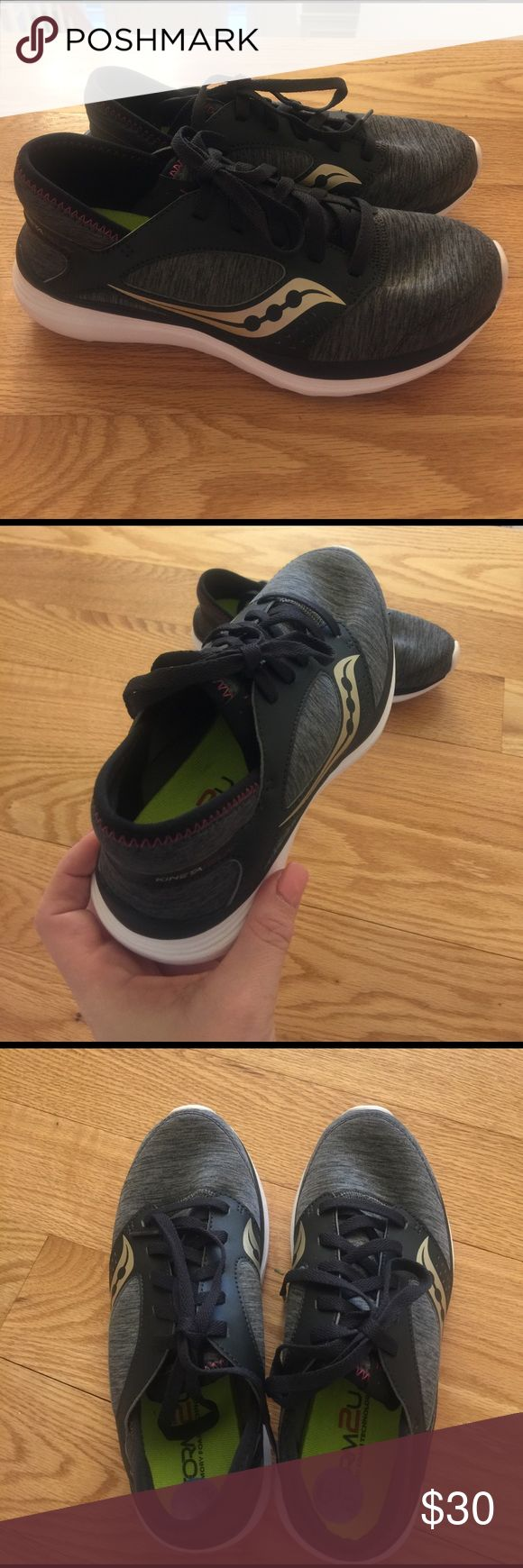 Saucony Memory Foam Sneakers New without tags. Very comfortable memory foam insole. These sneakers are super lightweight. 2 pairs of laces included. Any questions please ask! Saucony Shoes Sneakers