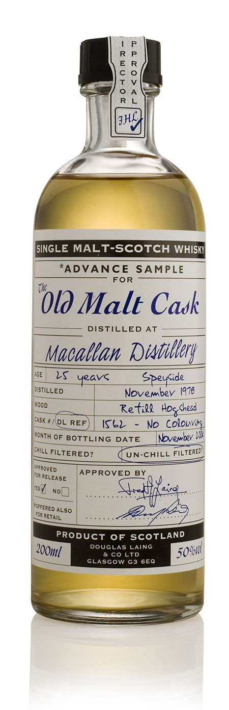 Old Malt Cask Whiskey #design #packaging