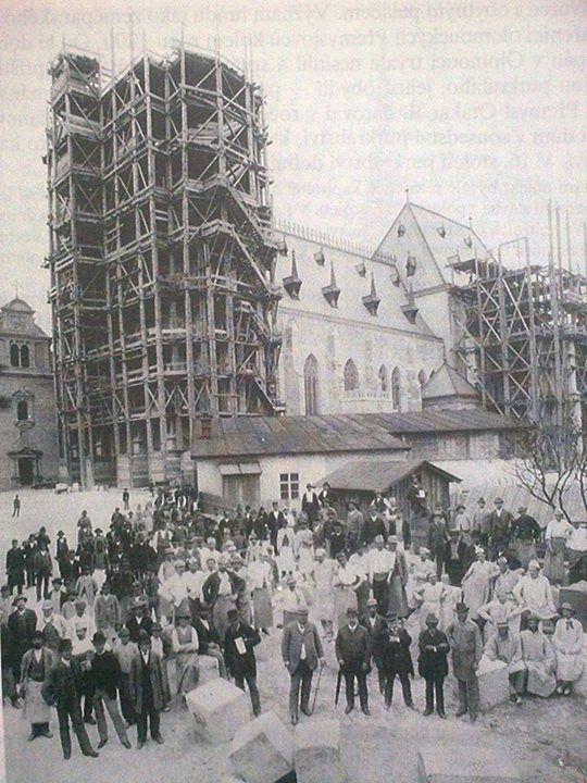 Novogotická přestavba dómu Sv. Václava, rok 1887