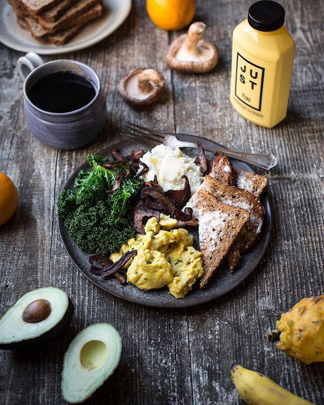 Timothy Pakron Mississippivegan Just Egg Vegan Egg Breakfast For Dinner Savory Vegan Creamy Grits