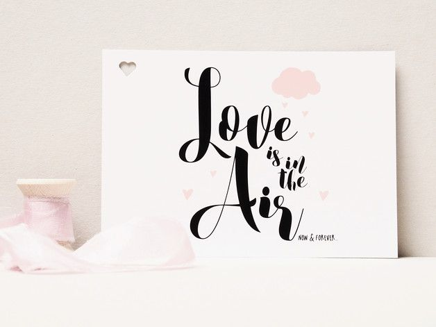 Wedding Decorations – 20 x Luftpost...Ballonflugkarte LOVE IS IN THE AIR – a unique product by gluecksschauer on DaWanda