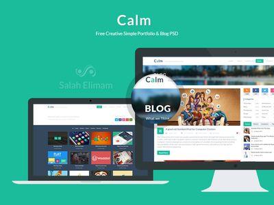 Download CALM, FREE CREATIVE SIMPLE PORTFOLIO http://downloadpsd.co/calm-free-creative-simple-portfolio-and-blog-psd/