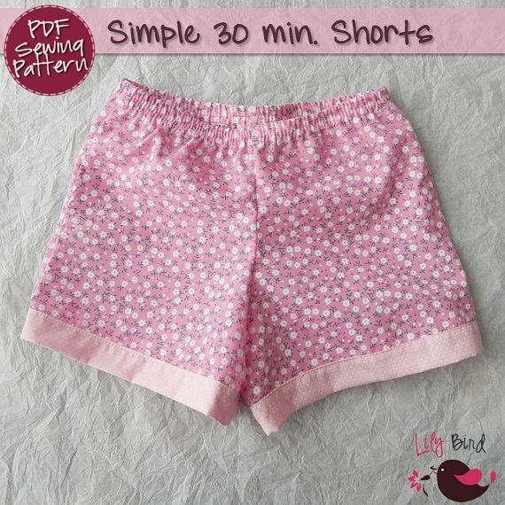 Simple 30 minutes Shorts for boy/girl perfect project for
