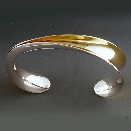 Half Open Cuff by Nancy Linkin, Modern Jewelry