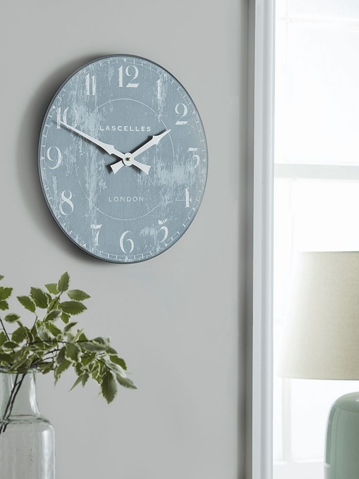 NEW Distressed Grey Clock