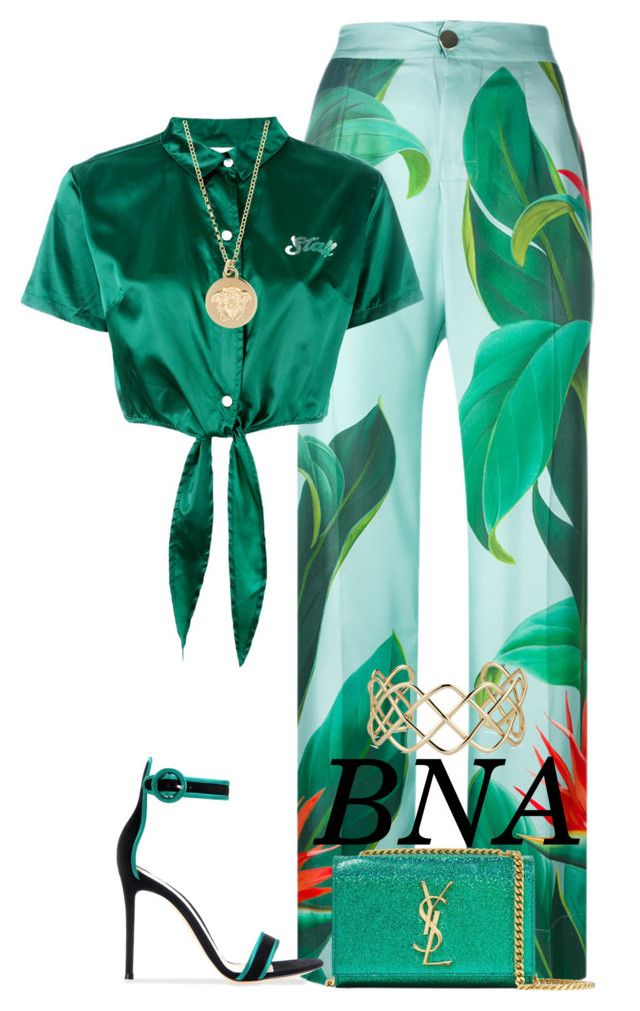 """""""BNA"""" by deborahsauveur ❤ liked on Polyvore featuring F.R.S For Restless Sleepers, GCDS, Yves Saint Laurent, Blue Nile and Versace"""