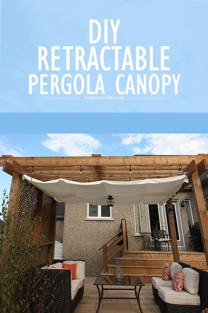 Diy Retractable Pergola Canopy Tutorial Home Amp Garden